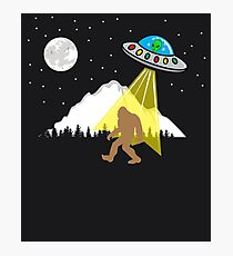 Bigfoot UFO - Alien sasquatch Photographic Print