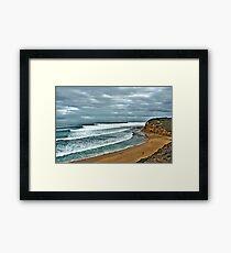 Bells Beach Smooth Wednesday Framed Print