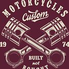 American Motorcycles Built not Bought T-shirt by artbaggage