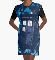 Police Box Graphic T-Shirt Dress