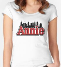 Annie Broadway Musical Show Movie Orphan Film Vintage Retro Women's Fitted Scoop T-Shirt