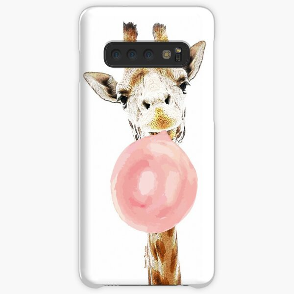 Pink Bubblegum Giraffe  Samsung Galaxy Snap Case