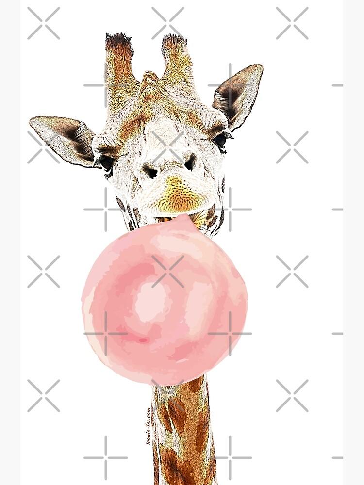 Rosa Bubblegum Giraffe von IconicTee