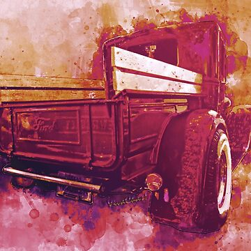 Red Ford Pickup with a Hypothetical Destination by ChasSinklier
