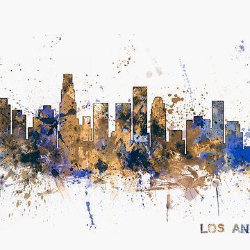Los Angeles California Skyline by ArtPrints