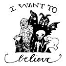 I Want To Believe - Black And White by superstarling