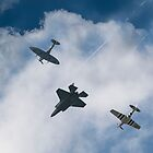 USAF Salute Old & New by Andy Thomson Photography Art