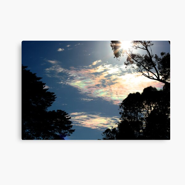 Iridescent clouds again Canvas Print