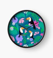 Tropical Toucan Jungle Clock