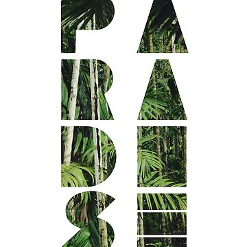 Paradise - Jungle Palm Tree Graphic Print by mousenpepper