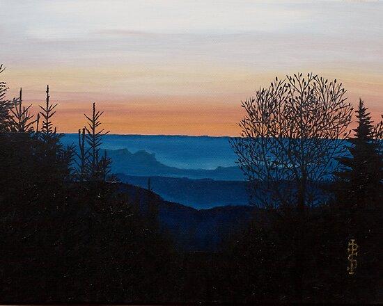 Sunset over Grouse Lodge Cross , Glensharrold , Limerick by Pauline Sharp