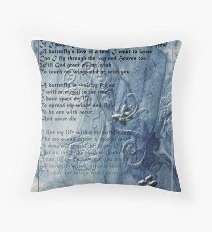 A Butterfly's Love Throw Pillow