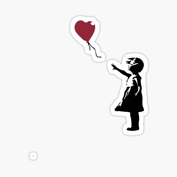 Girl With Red Balloon, Banksy, Streetart Street Art, Grafitti, Artwork, Design For Men, Women, Kids Sticker
