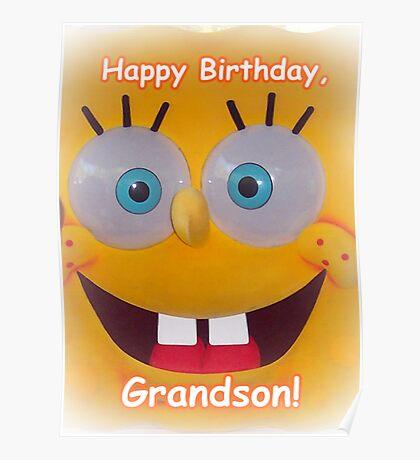 Grandson Birthday Poster