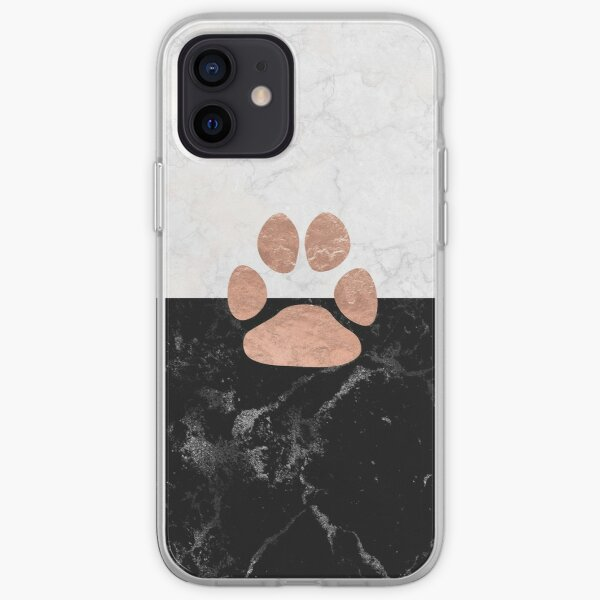 Paw - Marble - Animal Lovers iPhone Soft Case