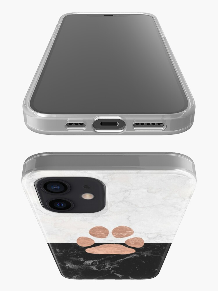 Alternate view of Paw - Marble - Animal Lovers iPhone Case & Cover