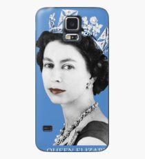 Queen Elizabeth II (Blue)  Case/Skin for Samsung Galaxy
