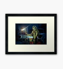 blow my flame at midnight Framed Print