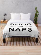 good at naps Throw Blanket