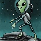 Alien on the moon by Matt Corrigan