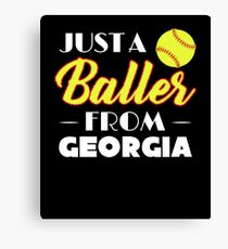 Just A Baller From Georgia Canvas Print
