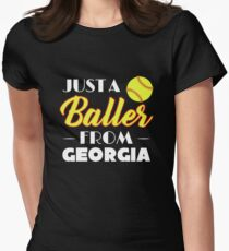 Just A Baller From Georgia Women's Fitted T-Shirt