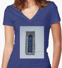 Monastery Window Women's Fitted V-Neck T-Shirt