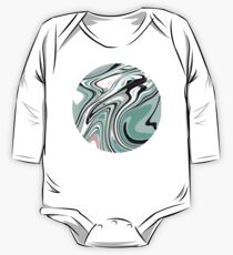 Modern Marble Background Pastel Pink, Blue, Green & Turquoise One Piece - Long Sleeve