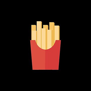 French fries on black by BlackDevil