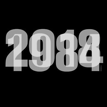 1984 / 2018 (White) by f22design