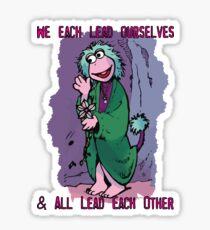 Fraggle Rock TV Show 80s Muppets Cartoon Comic Mokey Sticker