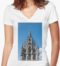 Stadhuis Gouda Women's Fitted V-Neck T-Shirt