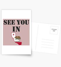 See you in California Postcards