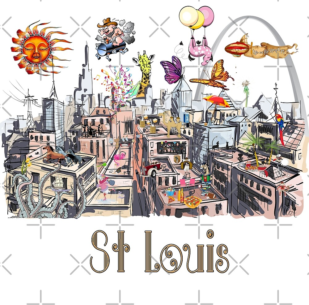 Saint Louis  Crazy City Life POP ART  by IconicTee