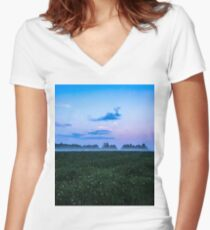 Colours of the night Women's Fitted V-Neck T-Shirt