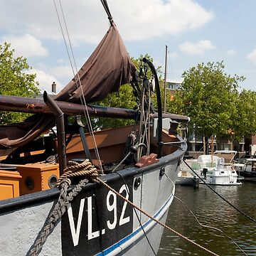 Vlaardingen The Netherlands Boats moored in the Oude Haven, Old Harbour. by stuwdamdorp