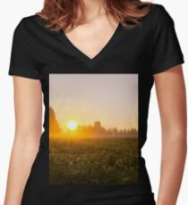Today is going to be a good day Women's Fitted V-Neck T-Shirt