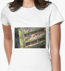 Water Wheel Womens Fitted T-Shirt