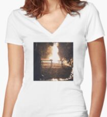 Papertrail. Women's Fitted V-Neck T-Shirt