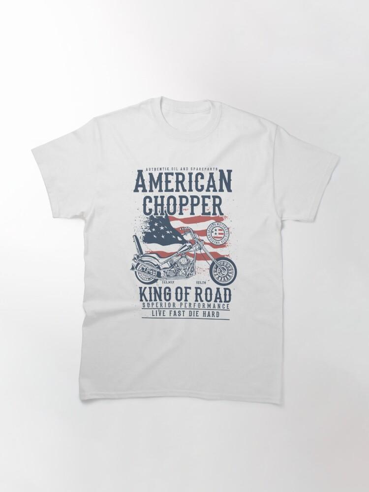 Alternate view of American Chopper King of Road Biker T-shirt Classic T-Shirt