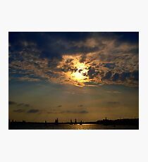 Sailboats Serene on the Water    Photographic Print