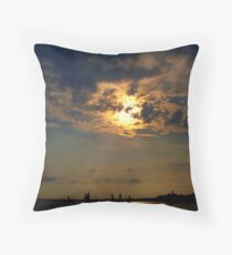 Sailboats Serene on the Water    Throw Pillow