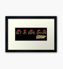 October 21, 2015 in DeLorean Numbers  Framed Print