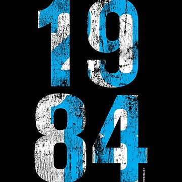 1984 / 2018 (Blue) by f22design