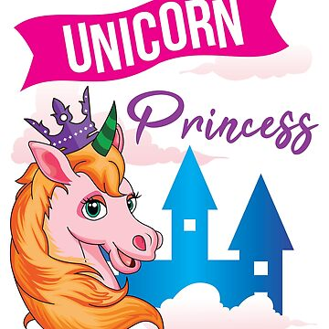 Cute Unicorn Princess Girls Unicorn Gift by epicshirts