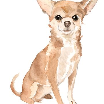 Chihuahua Watercolor by emrdesigns