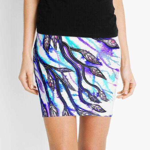 Moonlit Leaves Mini Skirt