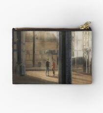 Meeting at the Train Station Zipper Pouch