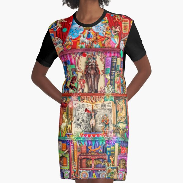 The Marvelous Circus Graphic T-Shirt Dress