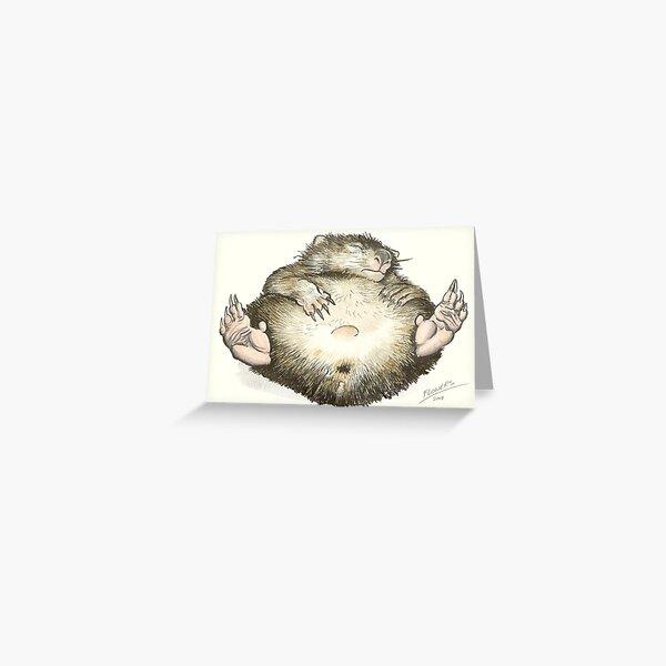 Lazy Wombat Greeting Card